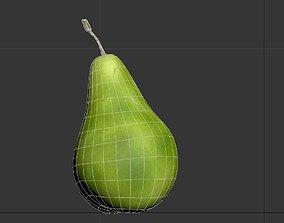 3D model Pear fruit Lowpoly
