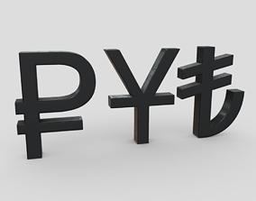 CC0 - Currency Symbols 3 3D model