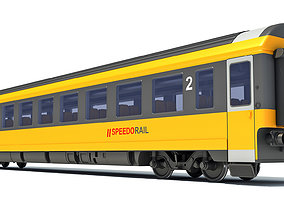 3D model Passenger Train Car