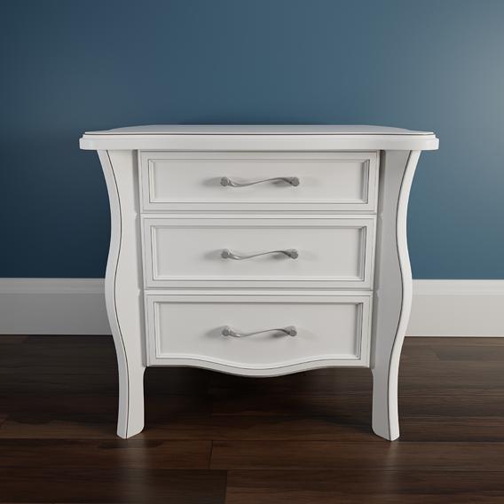 Small White Wood Nightstand