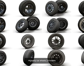 Highpoly car wheels 3D model