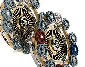 3D model Gear mechanism v 6