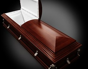 3D model High Def Classic Coffin Wood Victorian II