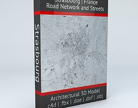 3D Strasbourg Road Network and Streets