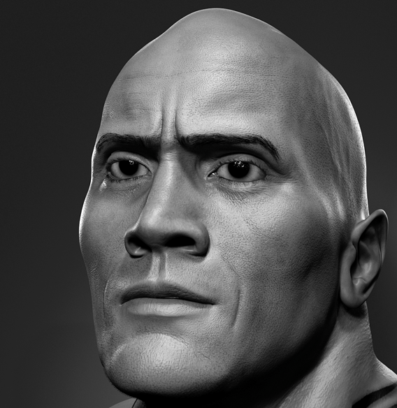 The Rock Real 3D Model!