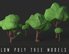 forest Low Poly Tree Pack 3D asset realtime