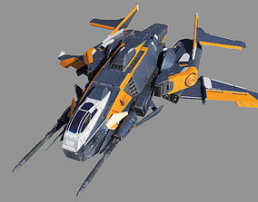 Space Fighter Ripper 3D model