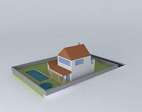 Little house exterior design 3D