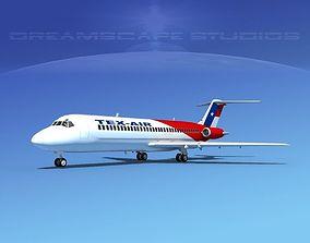 3D model Douglas DC-9-30 Texair