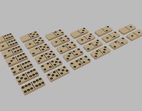 3D asset Light Textured Domino Set 28 pieces