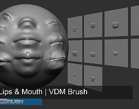 3D 10 Lips and Mouth - Zbrush VDM Brush