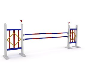 3D model Horse Jumping Obstacles