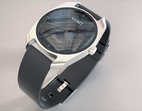 3D model clockwork Wrist Watch