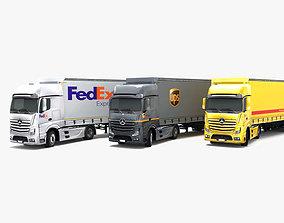 3D asset Mercedes Benz Actros DHL UPS FedEx