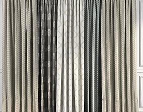 Curtain Set 48 3D model