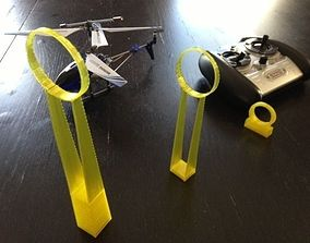 Helicopter challenge rings 3D print model