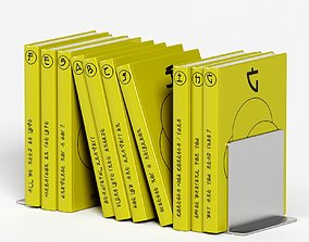 japanese book set 3 decoration 3D