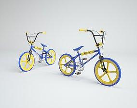 3D model 1980s Raleigh Burner BMX Bicycle