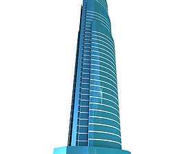3D model Glass Modern Building 134