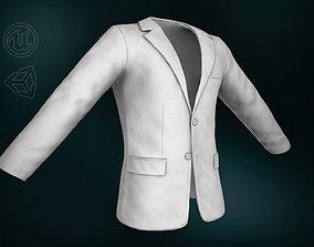White Blazer Jacket 3D model