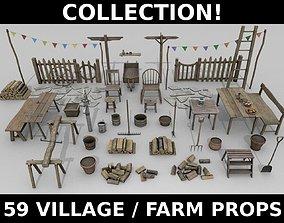 3D asset Village Props