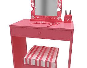 Make up mirror and set 3D asset