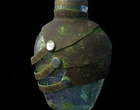 Bottle Corona render scene and Substance Painter 3D model