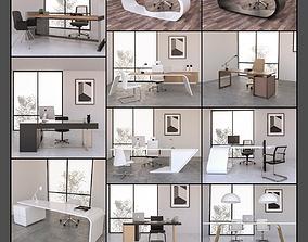 10 Office Desk 3d models Collection