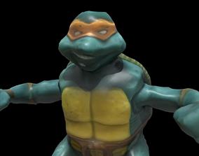 2005 Michelangelo Happy Meal McDonalds Toy TNMT 3D model