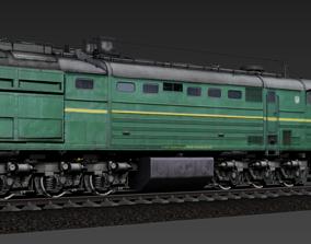 Russian Locomotive 2TE10M 3D asset