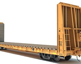 Bulkhead Flat Rail Car 3D
