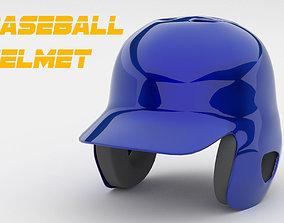 3D model low-poly Classic Baseball Helmet