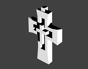 3D printable model Double Cross Pendant
