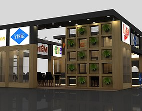 3D Exhibition Stall Size 14 m x 9 m Height 450 cm