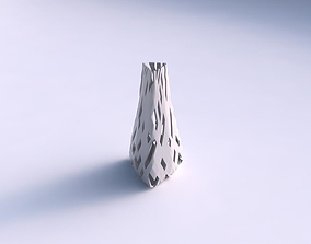 3D print model Vase puffy tipped triangle with cuts
