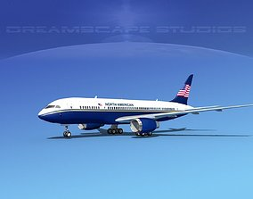 Boeing 787-8 North American Airlines 3D