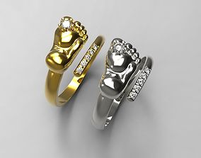 3D printable model Baby feet ring