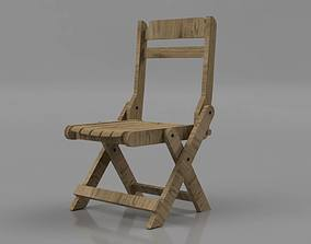 3D printable model Wooden Foldable Chair