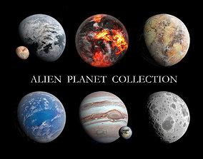Fictional Alien Planet Collection - 8k 3D model