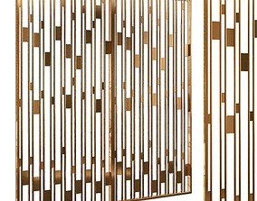 Decorative partition set 23 3D