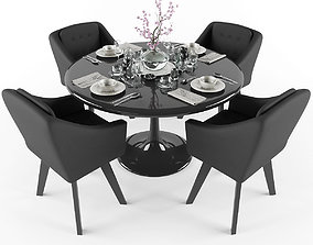 cup 3D model VR / AR ready Dining table and chairs