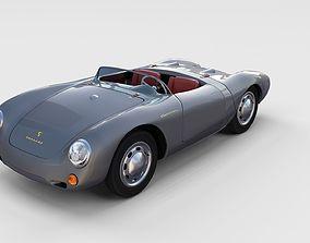 3D model Porsche 550 Spyder gray rev