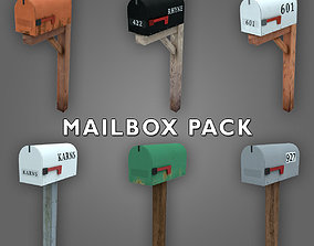 3D asset Low-poly Mailbox Pack