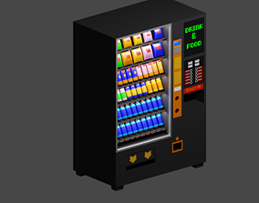 3D model Vending Machine Lowpoly