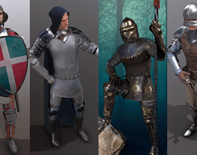 Pack Medieval Knight - 1 3D model