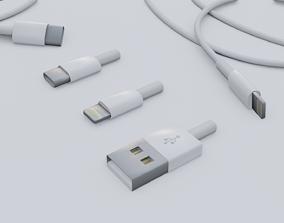 3D basic usb cables set