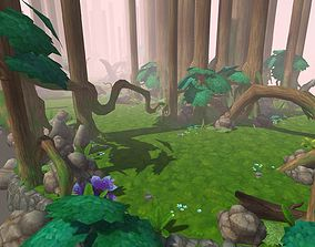 forest 3D model low-poly