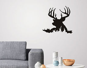 Deer Silhouette for wall art 3D printable model
