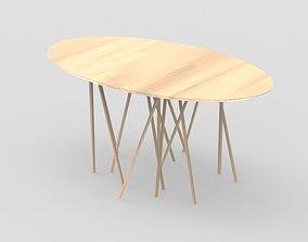 Spider Table 3D asset