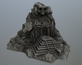3D model low-poly skull gate desert other